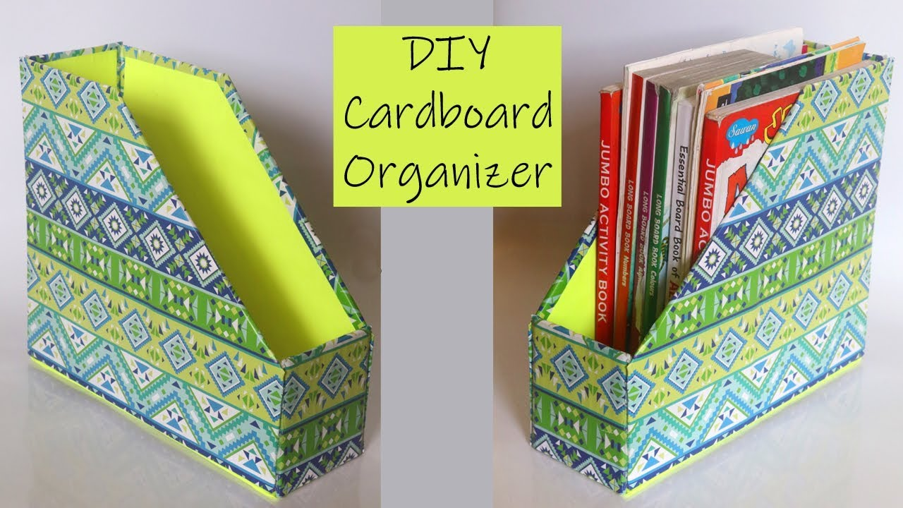 Cardboard Crafts Diy Desk Organizer Recycled Crafts Ideas