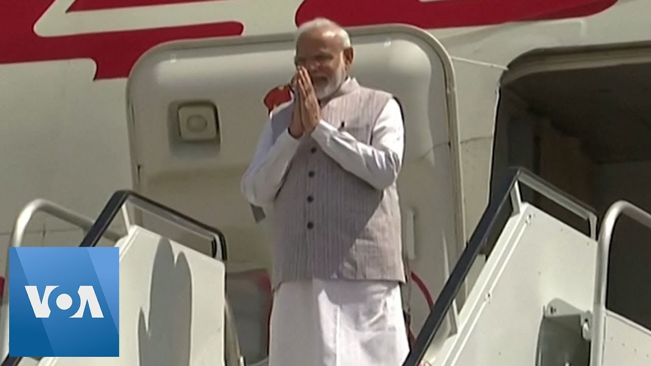 Indian Prime Minister Narendra Modi Lands in Houston Ahead of Howdy Modi Event