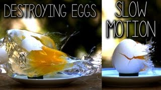 Destroying Eggs in Slow Motion (39,024FPS)