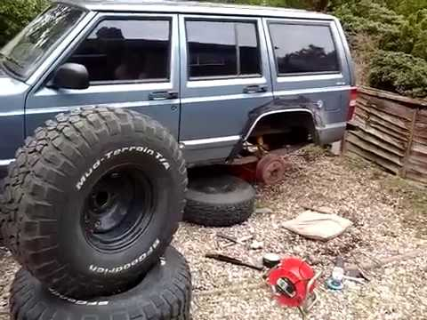 Cut and fold rear fenders,/arches on my jeep cherokee xj  EP 5