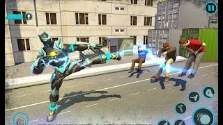 Panther Robot Battle City Rescue Games | Flying Panther Hero - Android GamePlay screenshot 3