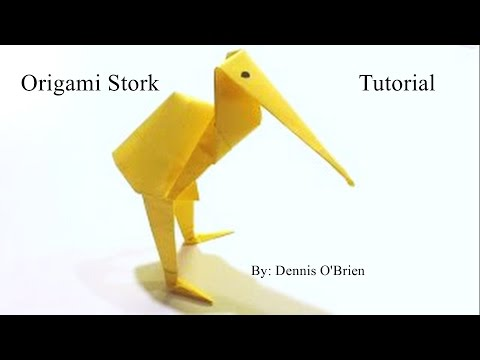Origami Stork Tutorial - How To Make An Origami Stork - YouTube