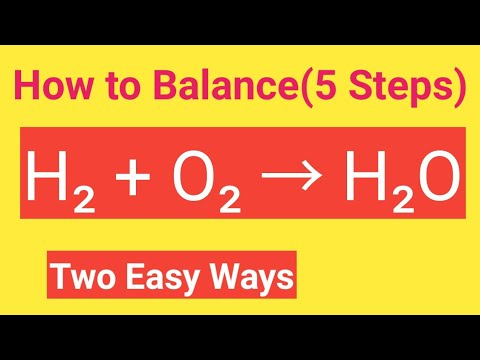 H2 + O2 → H2O Balanced Equation|Hydrogen Reacts With Oxygen To Form Water Balanced Equation