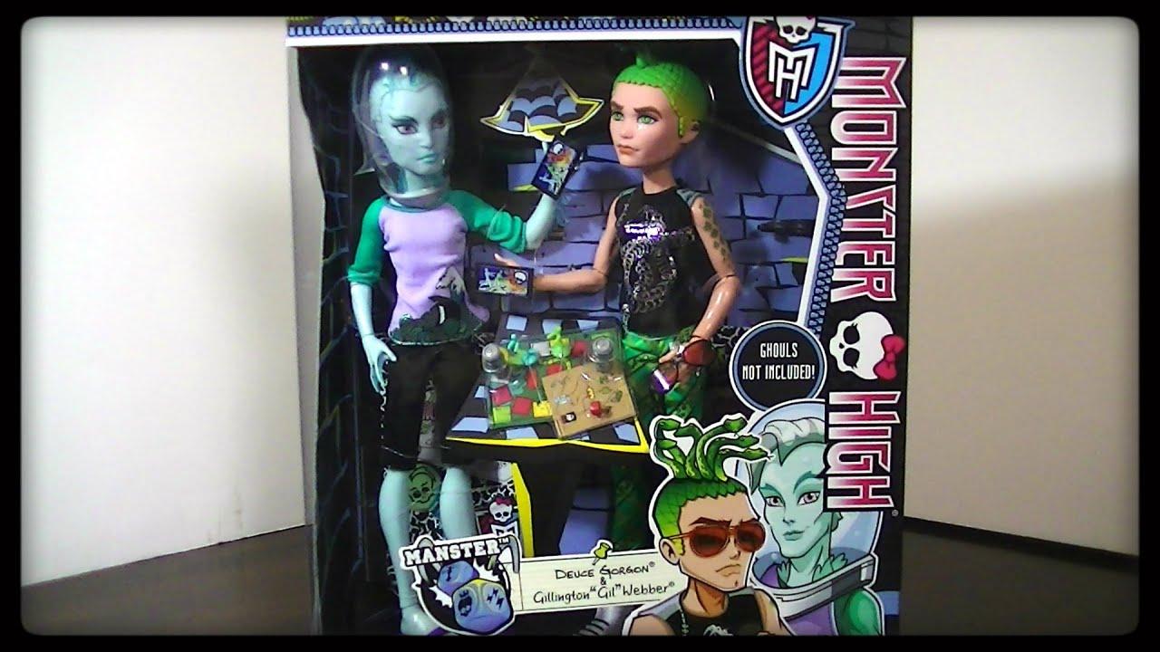 monster high manster deuce gorgon gillington gil webber new monster high