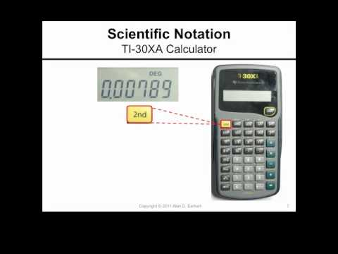 Scientific Notation And The Ti 30xa Calculator Youtube