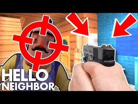 Minecraft Hello Neighbor - Killing The Neighbor With The Gun (Minecraft Roleplay)