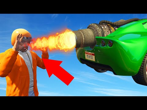 Don't Get BURNED By The JET ENGINE! (GTA 5 Funny Moments) thumbnail