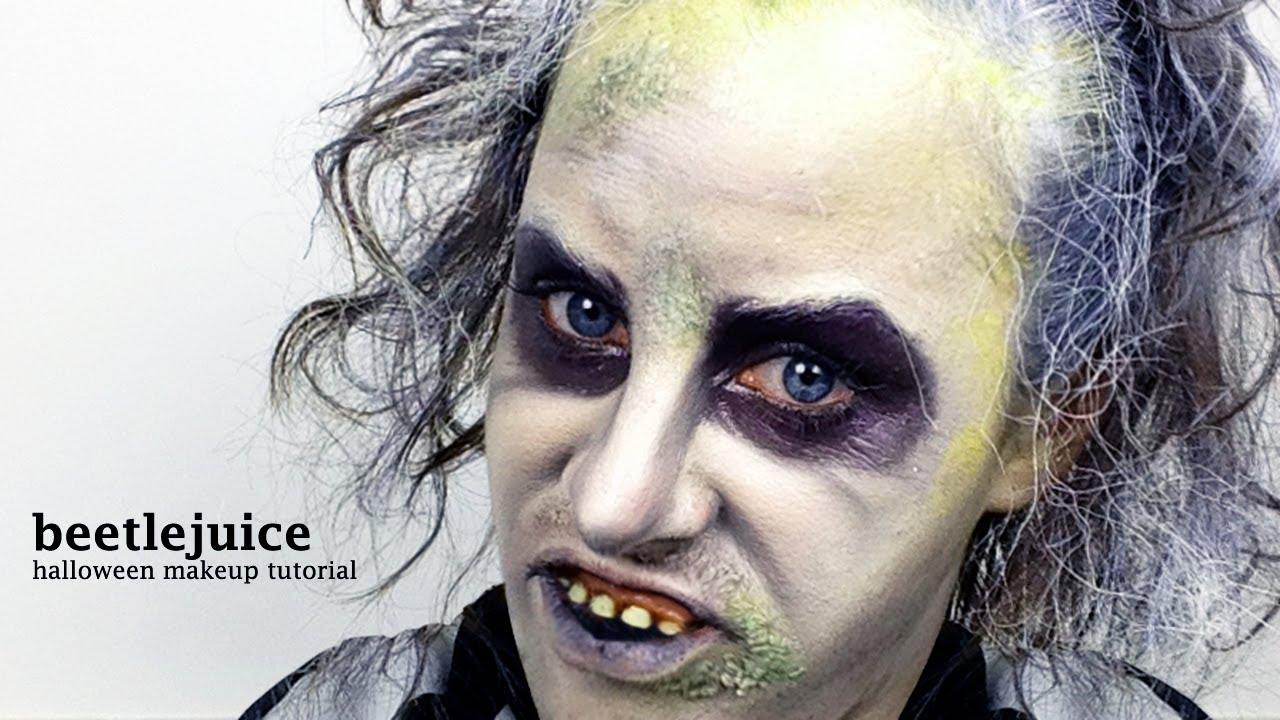 beetlejuice - halloween makeup tutorial (by jen pike) - youtube