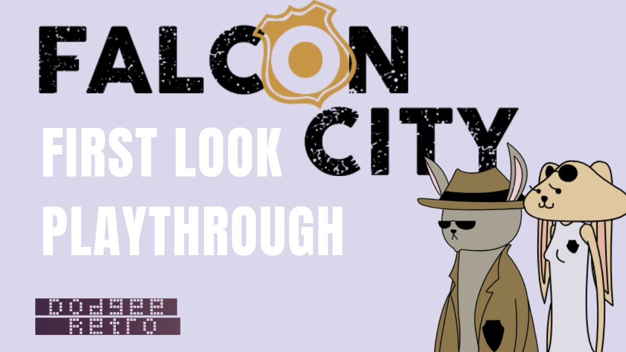 First Look - Falcon City - Point and Click Playthrough with Commentary.. and Rabbits? - Dodgee Retro
