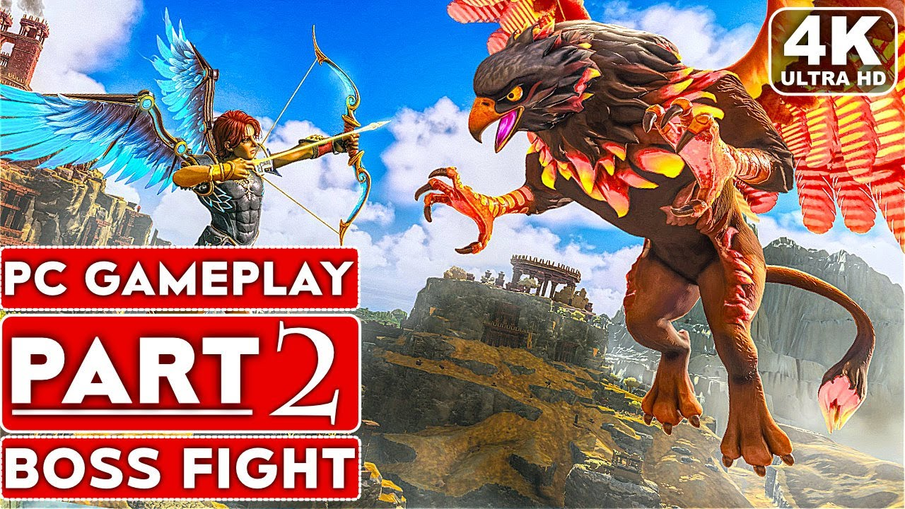Download IMMORTALS FENYX RISING Gameplay Walkthrough Part 2 BOSS FIGHT [4K 60FPS PC] - No Commentary