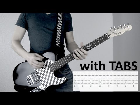 Three Days Grace - Fallen Angel Guitar Cover w/Tabs on screen