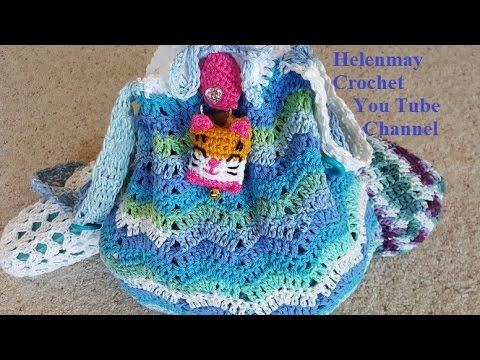 Crochet Tote Bag Tutorial Part 1 : Crochet Easy Deluxe Beach Bag and Flip Flops Part 1 of 2 ...