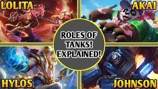 ROLES OF TANKS EXPLAINED! feat.HYLOS, JOHNSON, AKAI, LOLITA!