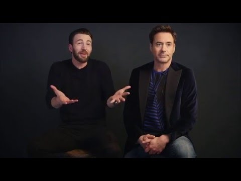 Chris Evans & Robert Downey Jr. on People Magazine
