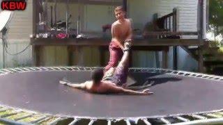 trampoline wrestling kbw ak 47 vs pacman