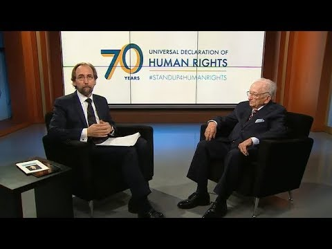 Nazi War Crimes Investigator interviewed by Human Rights Chief