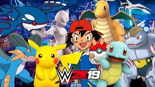 WWE 2K16 Pikachu vs Charizard vs Lucario vs Snorlax vs Charmander vs Squirtle | Pokemon Go