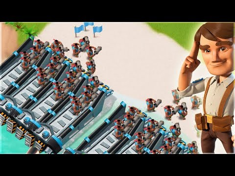Boom Beach ALL HEAVIES DESTROY Dr T!!