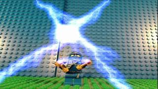 Lego Ninjago theme song with stop motion video