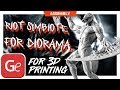 Riot 3D Printing Figurine in Diorama | Assembly by Gambody