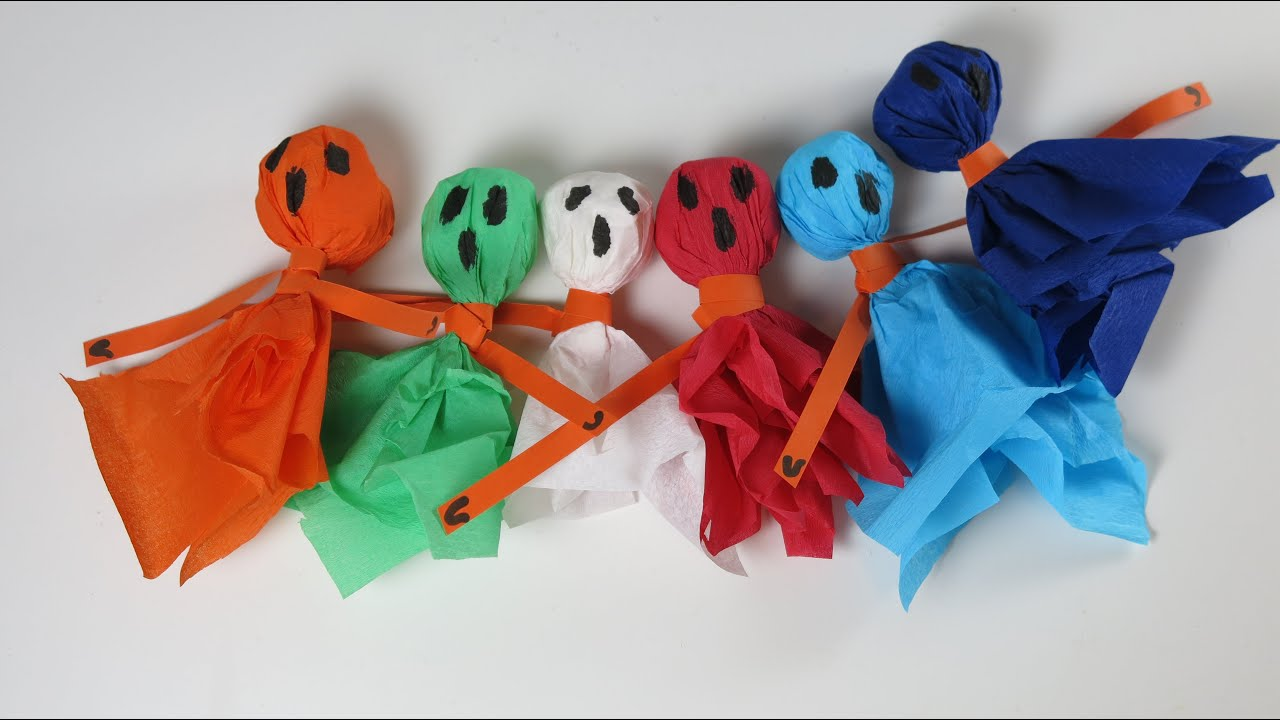 DIY Little Ghosts Halloween Decorations Easy Halloween Crafts for Kids
