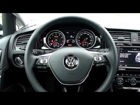 2012 vw golf 7 1 4 tsi bluemotion highline interieur in detail 12 13 youtube. Black Bedroom Furniture Sets. Home Design Ideas