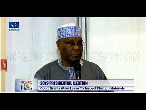 Court Orders INEC To Allow PDP, Atiku Access All Electoral Materials Pt.1 06/03/19 |News@10|