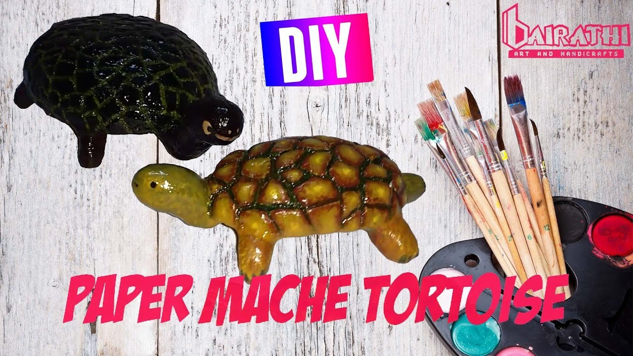 Crafts for kid: Paper Mache Turtles - FunLab Blog English | 720x1280
