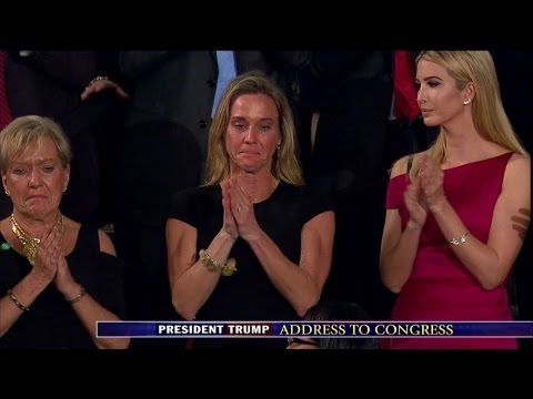Widow of Slain Navy SEAL Receives Standing Ovation During Trump