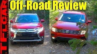 2018 Mitsubishi Outlander vs VW Tiguan vs Gold Mine Hill Off-Road Review