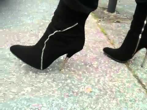 Black spike heels crush movie - 5 3