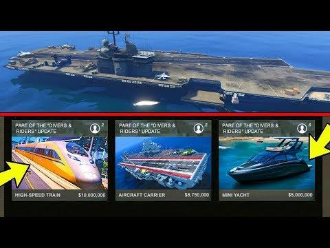 COMPRARE PORTAEREI, TRENO E MINI-YACHT su GTA 5 ita? 🚄 nel NUOVO DLC il TRENO sarà ACQUISTABILE?