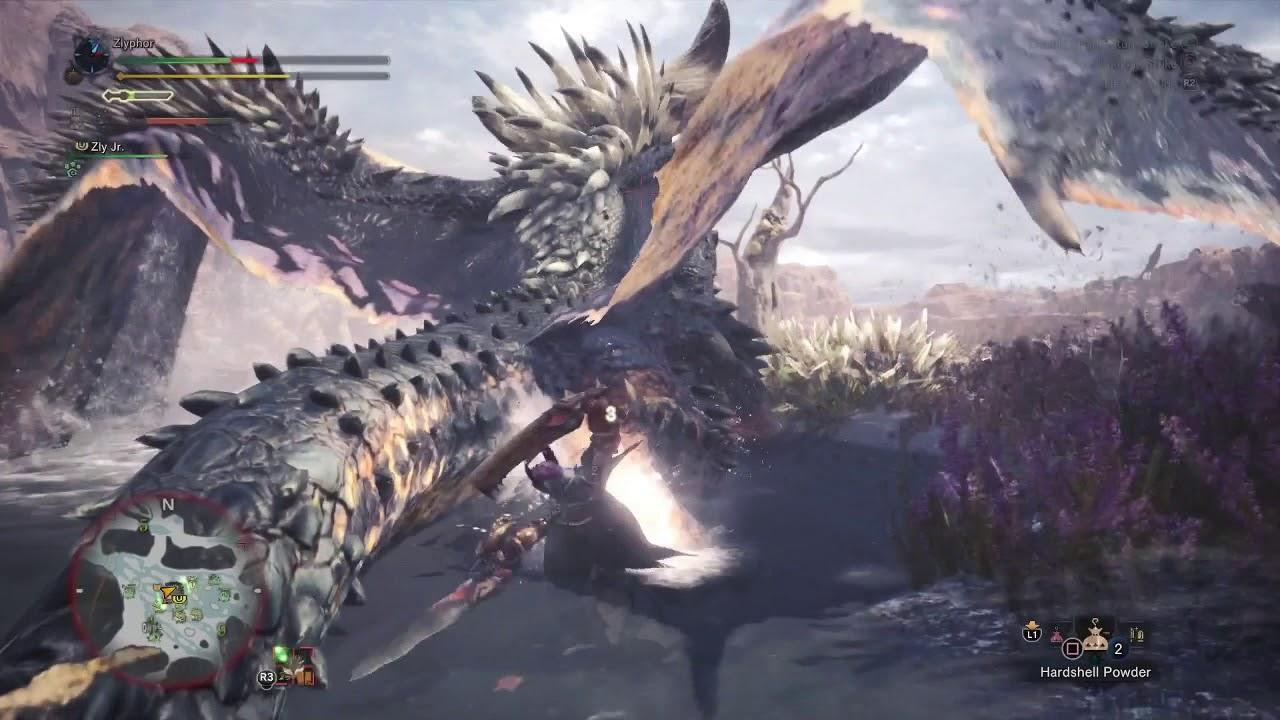 Monster Hunter World Beta Monster >> Monster Hunter World Beta - Nergigante DB Solo - Zlyphor Plays - YouTube