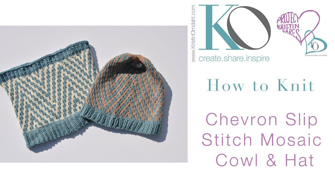 Knit chevron mosiac hat cowl brave youtube knit chevron mosiac hat cowl brave ccuart Gallery
