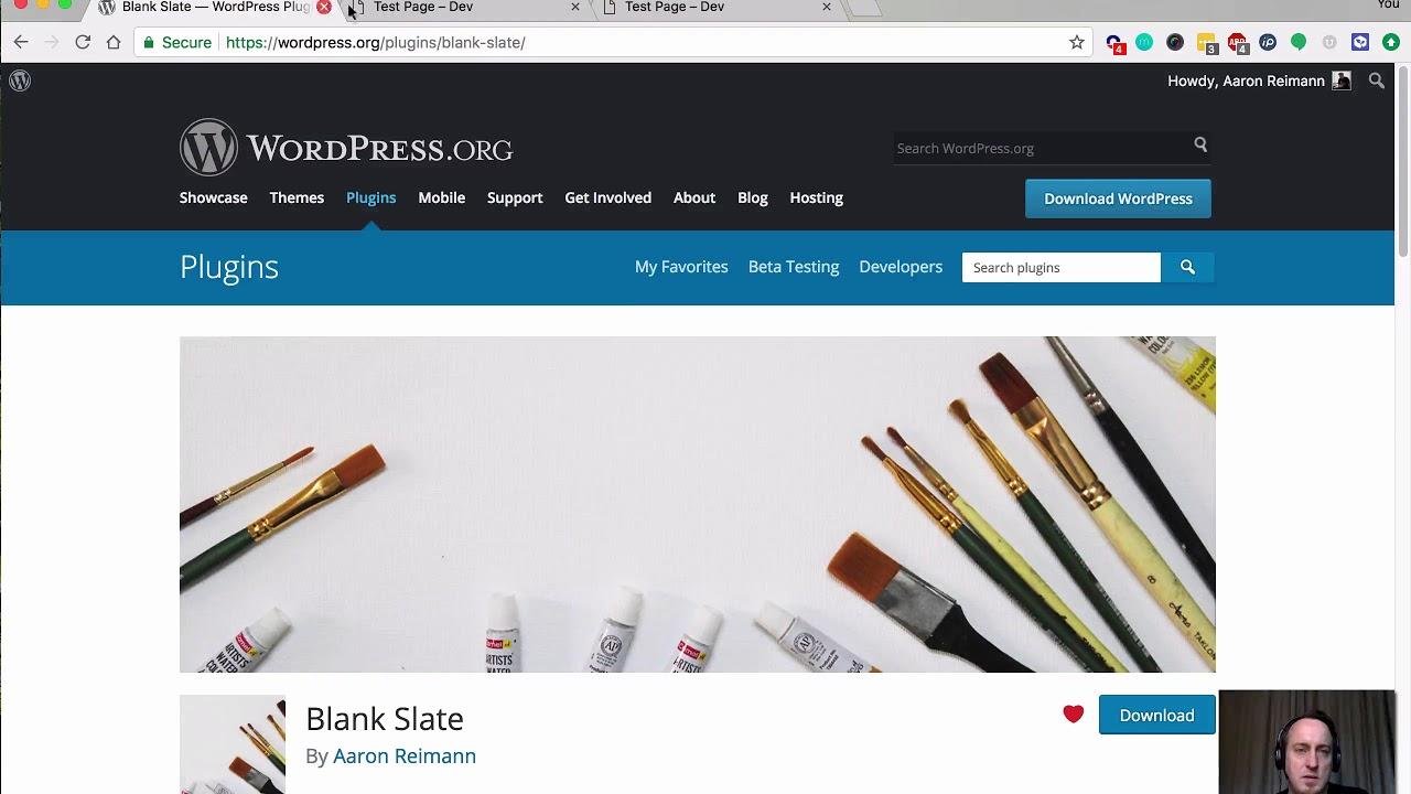 Blank Slate – WordPress plugin | WordPress org
