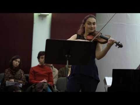 Beethoven, Violin sonata No. 8 1st mvt  | Eva Zavaro, Julien Hanck