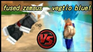 Vegtio VS Zamaus fused with Black goku Roblox Dragon ball rage | Fan made!!