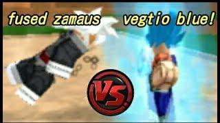 Vegtio VS Zamaus fused with Black goku Roblox Dragon ball rage | Fan made!!