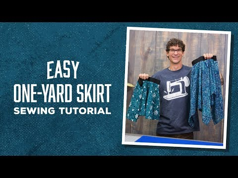 Make an Easy One-Yard Skirt with Rob!