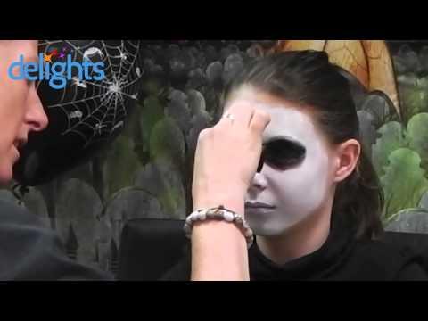Skeleton Face Paint - Kids Halloween Skeleton Face Paint Tutorial