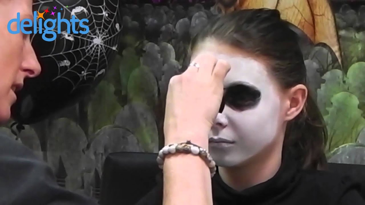 skeleton face paint kids halloween skeleton face paint tutorial youtube - Skeleton Face Paint For Halloween
