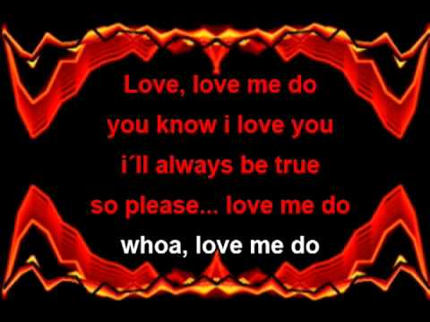Lyrics to love me do by the beatles