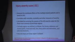 2.1 Injury Severity Scoring - Dr Gyan Saurabh (2019)