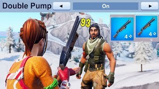How to actually use NEW DOUBLE PUMP in Fortnite..