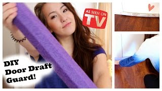 DIY Door Draft Guard out of Pool Noodle! (Like as Seen on TV)