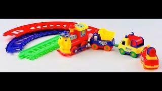 Огляд - розпакування іграшок Ж. Д. будівництво малюки в коробці Арт: 19016