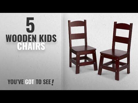 Top 10 Wooden Kids Chairs [2018]: Melissa & Doug Wooden Chair Pair - Espresso Children's Furniture