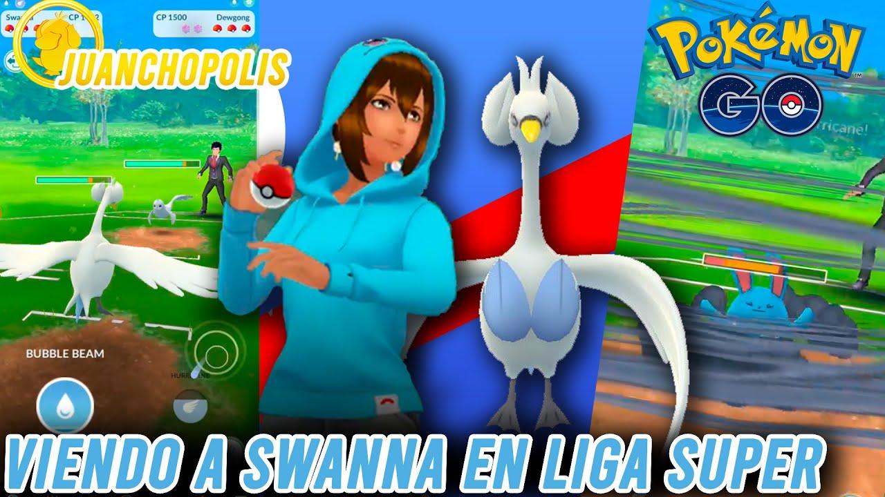 ¡VIENDO A SWANNA EN LA LIGA DE 1500!-Pokémon Go PvP