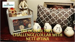 DIY Dollar Tree Challenge/Collab with Nett and Tina