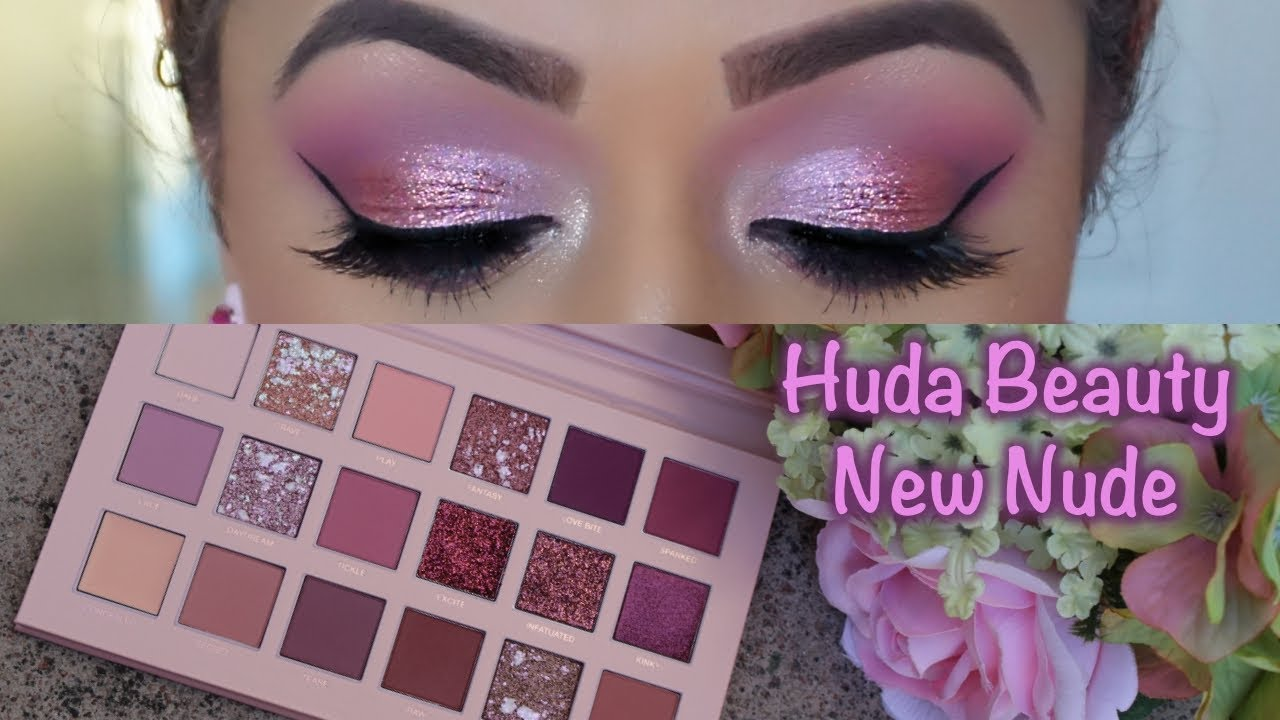 315839a5c67 REVIEW: NEW Huda Beauty The New Nude Eyeshadow Palette - YouTube